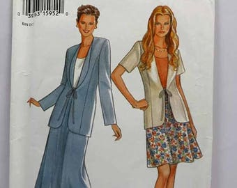 ON SALE New Look 6263, Misses' Jacket and Skirt Pattern, Sewing Pattern, Misses', Size 6 to 16, Uncut