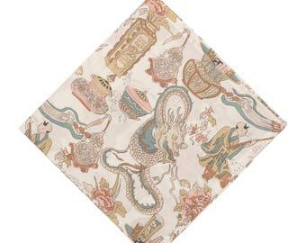 Pomp & Ceremony Pocket Square handkerchief Liberty of London Dragonista