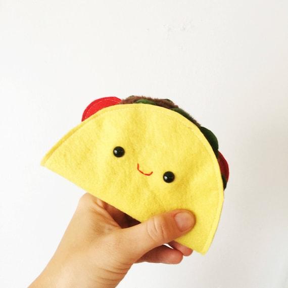Cute Plush Taco, Soft Toy, Pretend Food