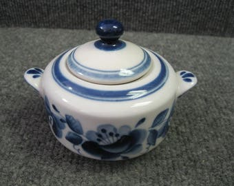 Russian Sugar Bowl blue and white