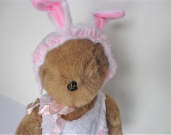 Hunny-Bunny Treasured Toggery, Tender Heart Bunny Suit, Bunny Suit with Hat and Slippers, Easter Bunny Outfit, Bunny Outfit for Teddy