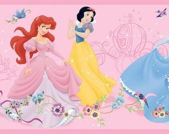 DK5945BD Dancing Princess Border Kids Girl Comic/Cartoon Wallpaper Border