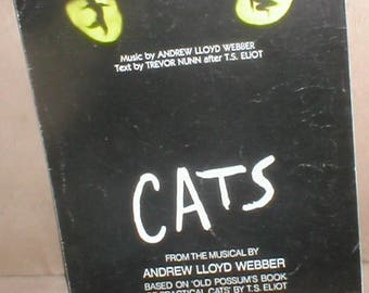 Vintage Sheet music MEMORY from CATS  by Andrew Lloyd Webber