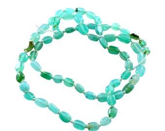 BLUE PERUVIAN OPAL Beads Potato Shaped 4-7mm New World Gems