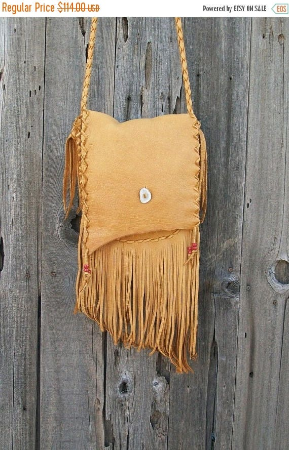 ON SALE Fringed leather handbag ,  Handmade leather purse , Leather crossbody handbag , Leather handbag