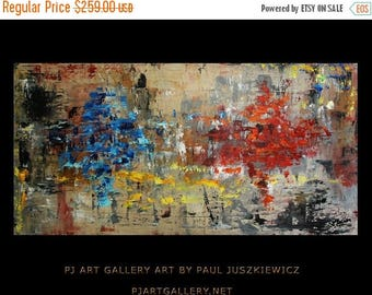 """17% OFF /ONE WEEK Only/ Unique Ante Meridiem abstract knife by Paul Juszkieiwcz 48""""X24"""""""