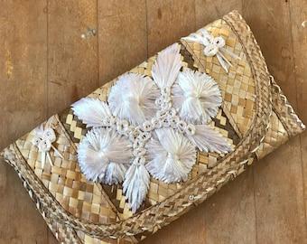 Vintage Palm Leaves Clutch