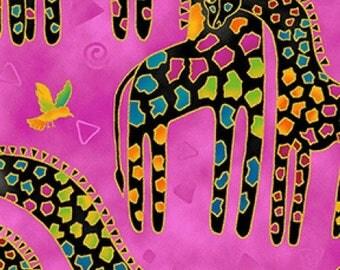 Mythical Jungle Giraffes - Laurel Burch - Clothworks - Half Yard