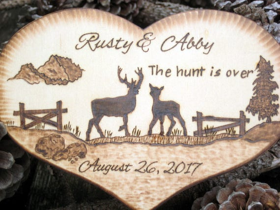Deer Wedding Cake Topper Hunting Buck And Doe Country