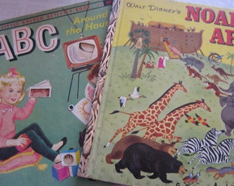 Two Little Golden Books About Ducks Printed in the 1950's First Editions