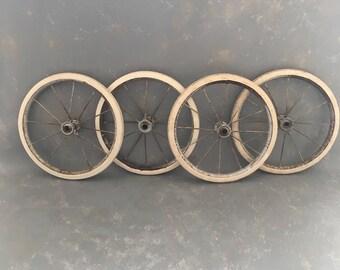 Vintage Rubber Wheel, Spokes, Buggy Wheel. ONE