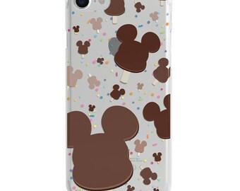 Mickey Ice Cream Clear Disney iPhone Case