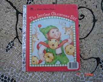 The Littlest Christmas Elf by Nancy Buss - a Little Golden Book - Sweet
