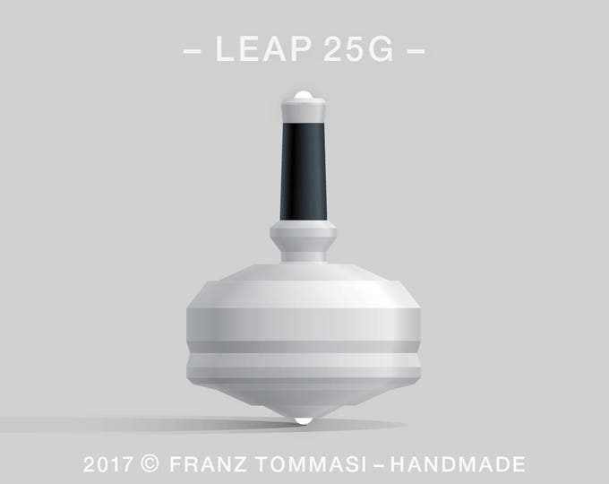 LEAP 25GWhite Spin Top with rubber grip and dual ceramic tip