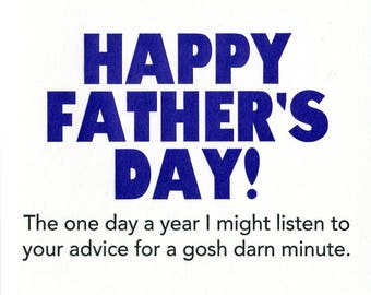 Advice for Father's Day