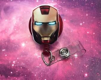 Iron Man Marvel Comics Superhero Badge Reel Retractable ID Clip Name Tag Nurse Convention CNA Technician Medical Womens Mens Nursing Murse