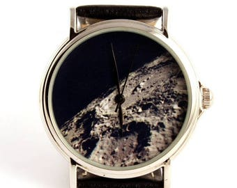 ON SALE 25% OFF Wrist watch Moon photo, unisex watch, women watch, men wrist watch