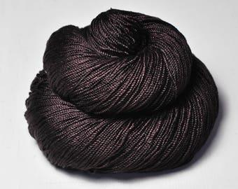 Burnt cacao beans - Cordonnette Silk Fingering Yarn