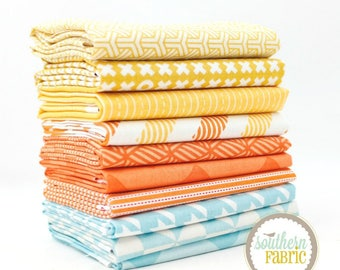 """Carribean - Half Yard Bundle - 10 - 18""""x44"""" Cuts - by Mixed Designers Quilt Fabric"""