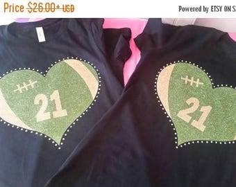Football Heart Shirt, Football Mom Shirt, Football Mom Tank,  Football Shirt, Football, Football Tank, Football Girlfriend Shirt,