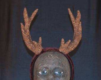 Brown Deer Antler Headband