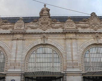 ON SALE Paris Photography Download West Train Station in Winter
