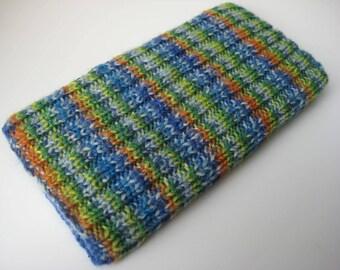 iPhone 6 sock - hand knitted wool iPhone 6 sock cosy - mobile phone case - cellphone sock - knitted phone case - handmade phone sock in UK