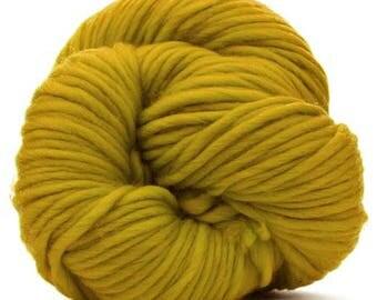 "Super Chunky 100% Merino Yarn ""Mustard"" 200 Grams/7 Oz."