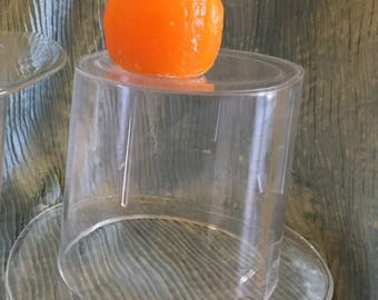 LUCITE ICE BUCKETS! Champagne Buckets! Top Hat 1 Available, Vintage Lucite, Mid Century, Minimalist, Wedding, Celebration at Modern Logic