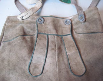 Pair of Vintage childs boys leather Lederhosen