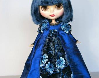 Blue Silk Gown by Modmoiselle