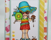 Summertime Beach Time Blank NoteCard, Greetings Card, Handmade Card