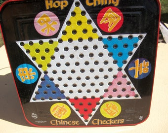 Chinese Checkers Game Board--Hop Ching--