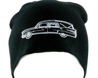 Funeral Hearse Car Beanie Knit Cap Dragula Alternative Gothic Clothing - EMPA-HEARSE-BEANIE