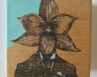 art block. ooak mixed media. 'Cyril'