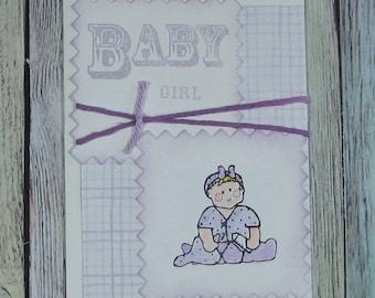 Lilac Baby Girl Handmade Card-CB81217-62