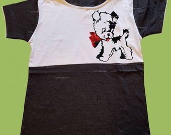 Boys Hooded T-Shirt, Vintage Black shirt, Kewpie Dog, Boys grahic shirt, Birthday outfit, preschool shirt, toddlers,  ChiTownBoutique