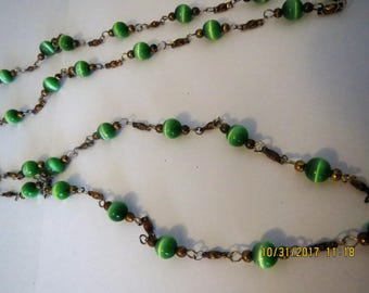 Nunn design beaded chain, green beaded chain
