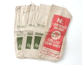 Shot Sack Bags Canvas Set of 4