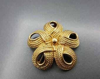 Napier Swirl Brooch  Beautiful endless Swirls of Gold Modern