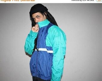 On SALE 35% Off - 1990s Vintage Puma Colorblock Hip Hop Windbreaker Jacket - 90s Windbreakers - 90s Clothing - MV0050