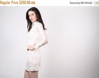 FLASH SALE - 60s Mod Lace Wedding Dress  - 60s Short Wedding  Dress - The Something Blue Dress - 5046