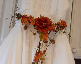 Fall Wedding Sash Belt Cascade