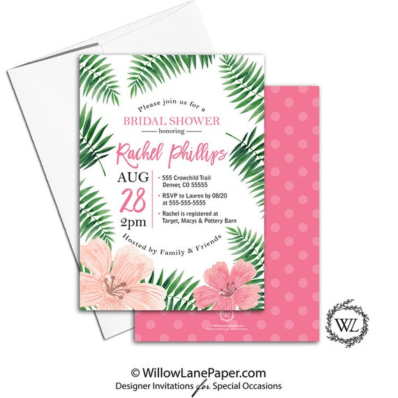 Tropical bridal shower invitation hawaiian bridal shower invite il570xn filmwisefo