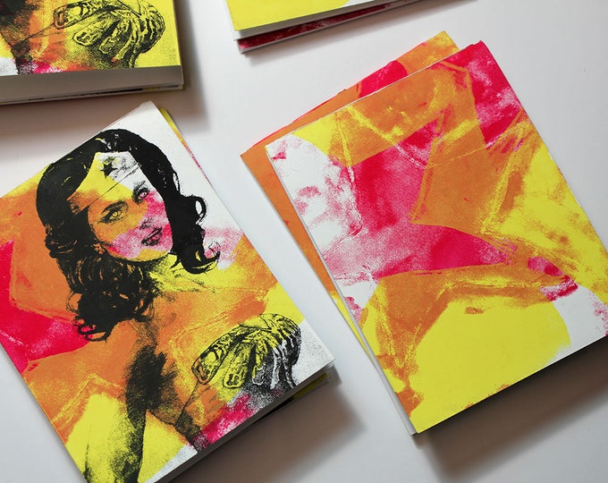 Wonder Woman Blank Chapbook, Screenprint Cover
