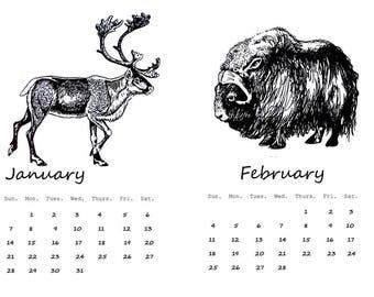 Sale, Wildlife Calendar, 2018 Animal Calendar, 2018 Wall Calendar