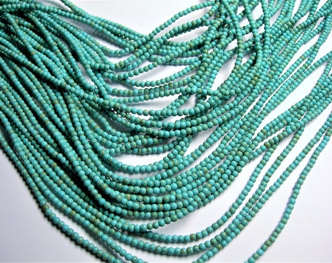 Turquoise Magnesite - 3mm beads -  full strand - 145 pcs - A Quality - RFG1404