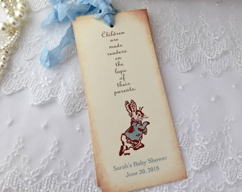 Peter Rabbit Bookmarks Baby Shower Favors Personalized You Set of 10