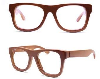 20% off SUMMER SALE TAKEMOTO bamboo Mjx1301 C04 handmade prescription brown sunglasses  eyeglasses