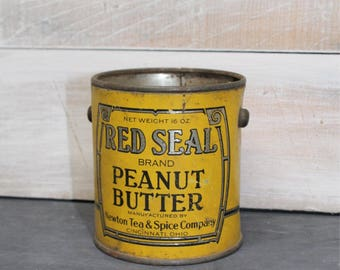 Vintage Red Seal Brand Peanut Butter Tin